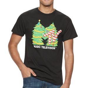 New! MTV Music Television Logo Christmas T-Shirt